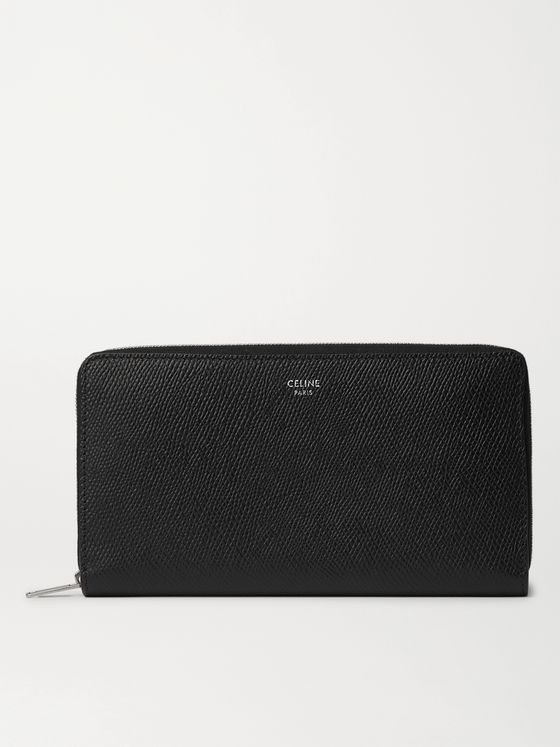 CELINE HOMME Full-Grain Leather Zip-Around Wallet