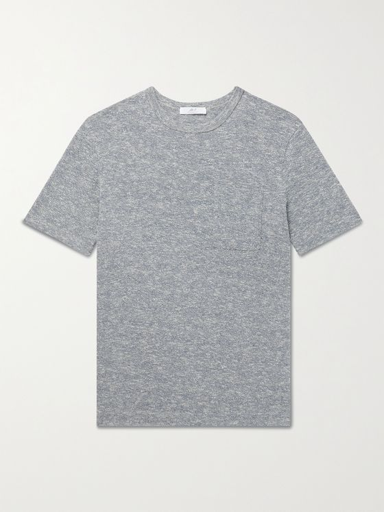 MR P. Mélange Cotton and Linen-Blend T-Shirt