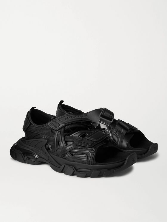 BALENCIAGA Track Neoprene and Rubber Sandals