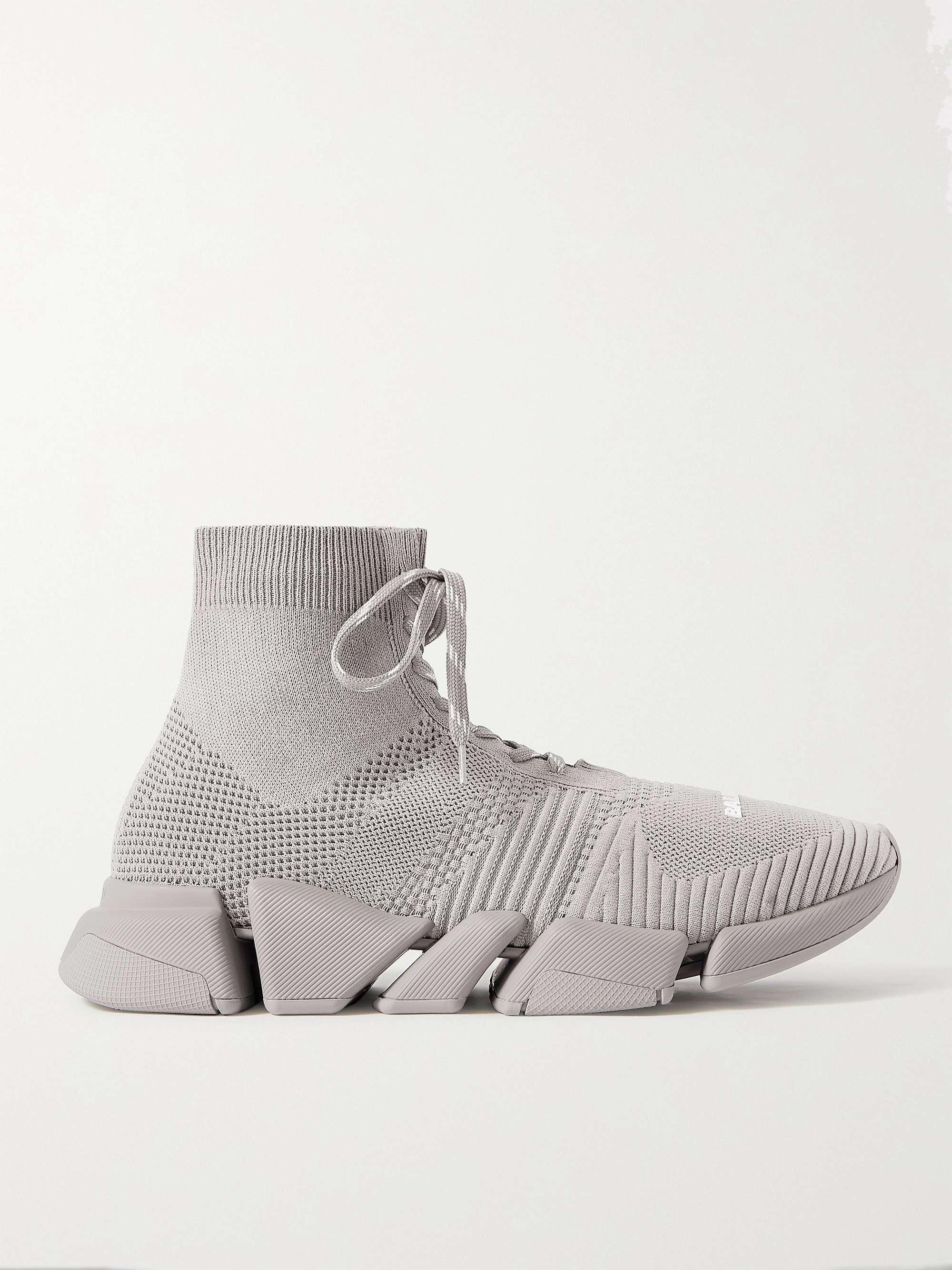 발렌시아가 스피드러너 2.0 남성용 - 그레이 Balenciaga Speed 2.0 Stretch-Knit Sneakers,Gray