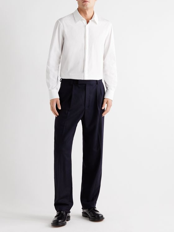 YOOX NET-A-PORTER For The Prince's Foundation Merino Wool and Cashmere-Blend Trousers