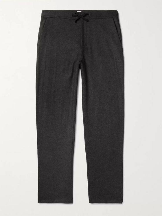 YOOX NET-A-PORTER For The Prince's Foundation Merino Wool and Cashmere-Blend Drawstring Trousers