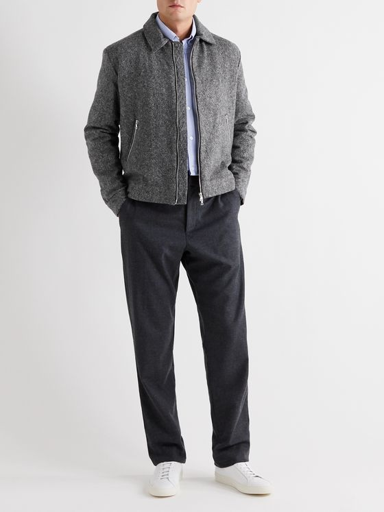 YOOX NET-A-PORTER For The Prince's Foundation Padded Donegal Cashmere Bomber Jacket