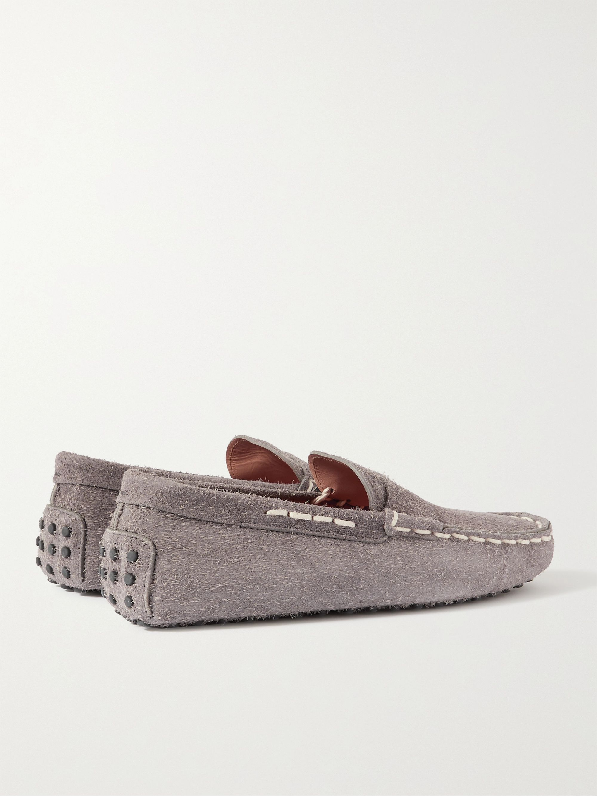 TOD'S Gommino Textured-Suede Driving Shoes