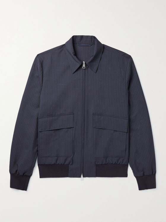 MR P. Pinstriped Wool and Silk-Blend Blouson Jacket