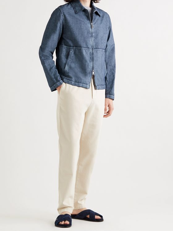 MR P. Resist-Dyed Cotton and Linen-Blend Blouson Jacket