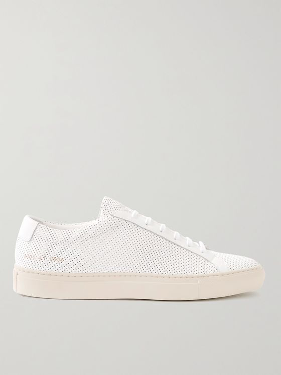 Common Projects Achilles Perforated Leather Sneakers