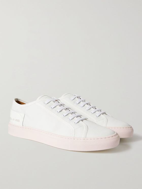 COMMON PROJECTS Tournament Low Leather-Trimmed Nylon Sneakers