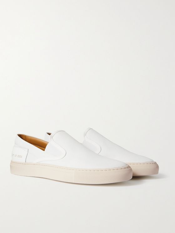 Common Projects Leather-Trimmed Nylon Slip-On Sneakers
