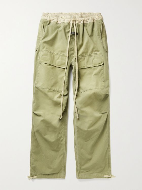 FEAR OF GOD Shell-Trimmed Cotton-Canvas Drawstring Cargo Trousers
