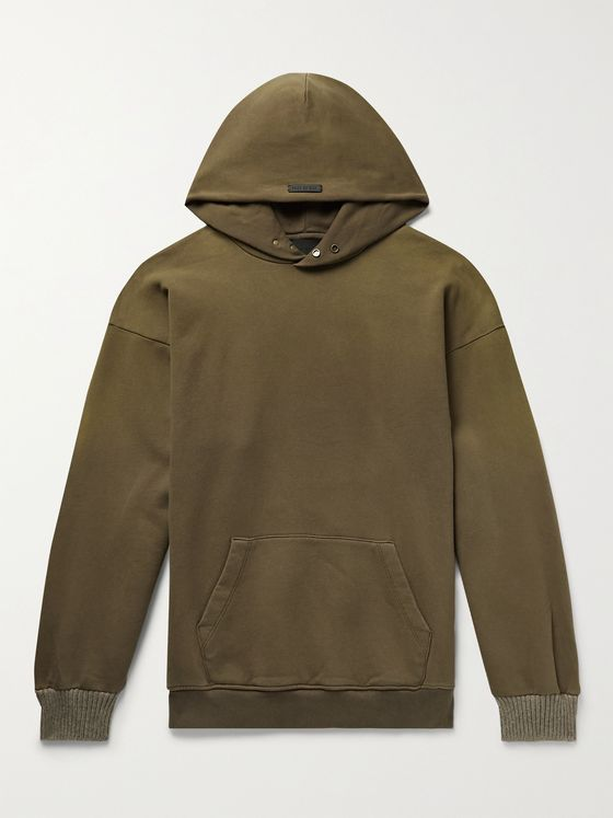 FEAR OF GOD The Vintage Fleece-Back Cotton-Jersey Hoodie