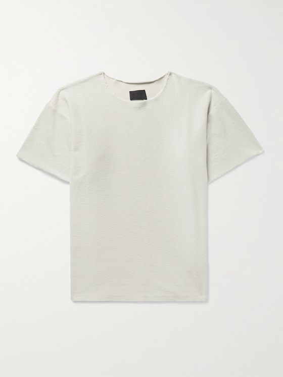 FEAR OF GOD Inside Out Distressed Cotton-Terry T-Shirt