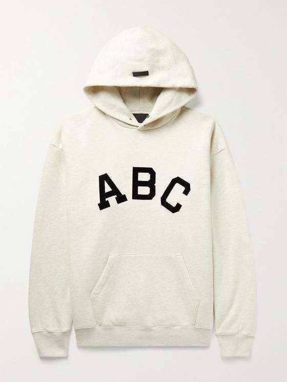 FEAR OF GOD Oversized Flocked Fleece-Back Cotton-Jersey Hoodie