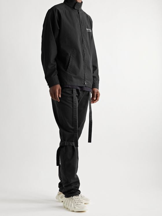 FEAR OF GOD Shell-Trimmed Cotton-Twill Drawstring Trousers