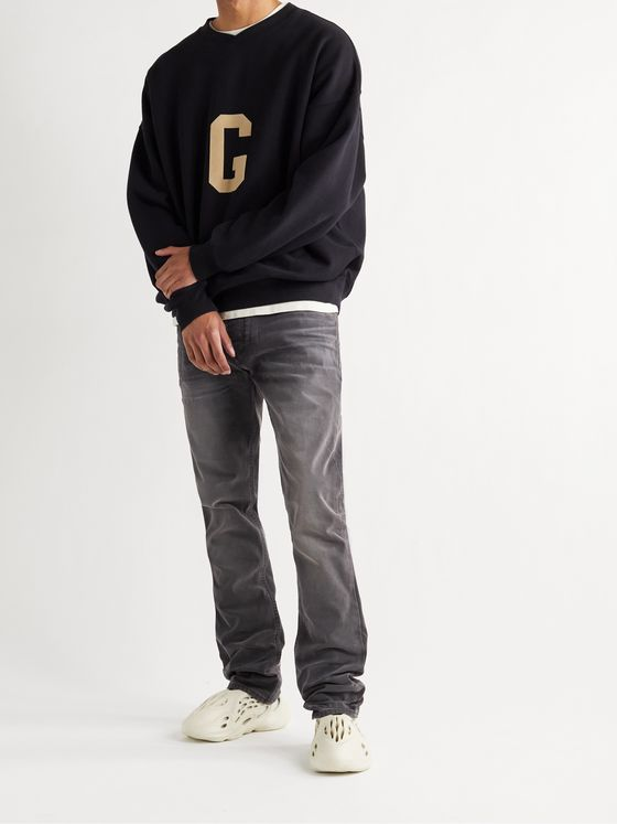 FEAR OF GOD Stone-Washed Cotton-Canvas Jeans
