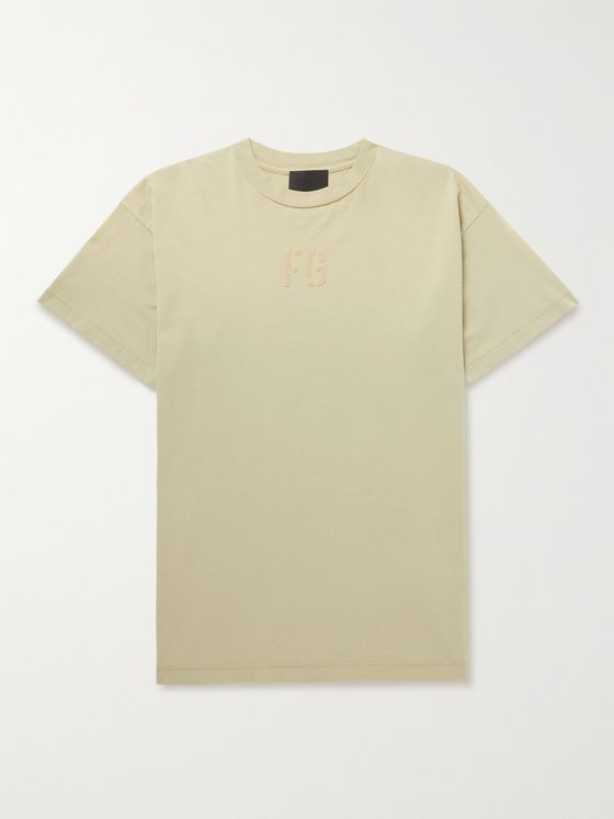 FEAR OF GOD Logo-Flocked Cotton-Jersey T-Shirt
