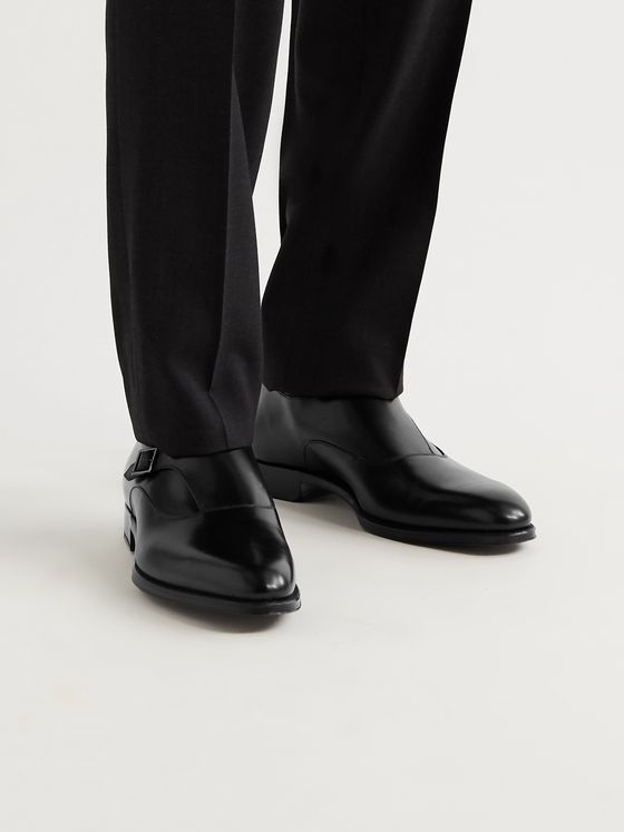 DUNHILL Kensington Leather Monk-Strap Shoes