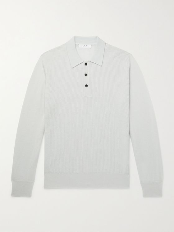 MR P. Slim-Fit Cashmere and Cotton-Blend Polo Shirt