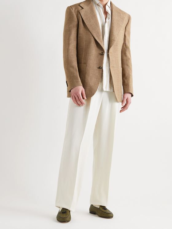 GIULIVA HERITAGE Aldo Virgin Wool, Silk and Linen-Blend Blazer