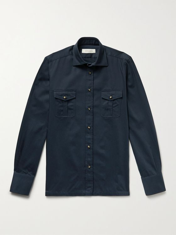 GIULIVA HERITAGE Antonio Cotton-Twill Shirt