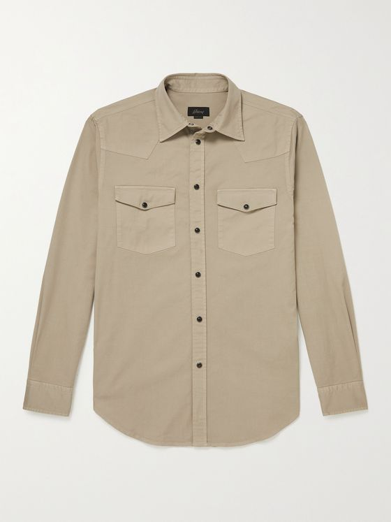 BRIONI Stretch-Denim Shirt