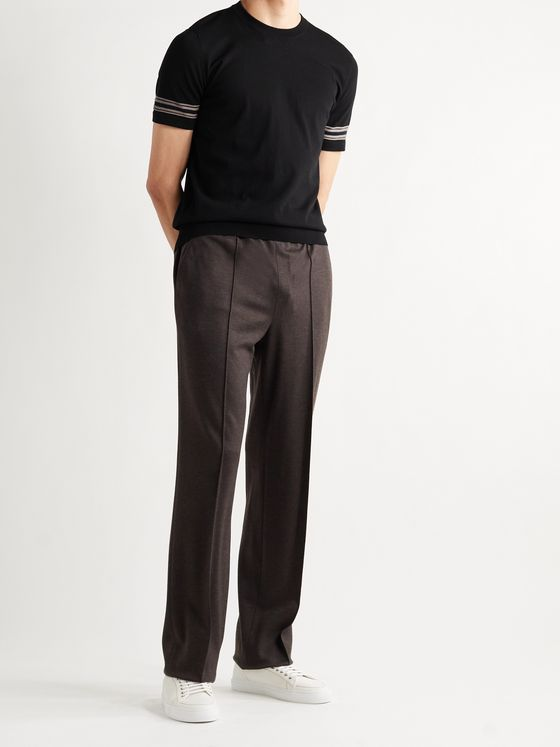 BRIONI Cotton and Silk-Blend T-Shirt