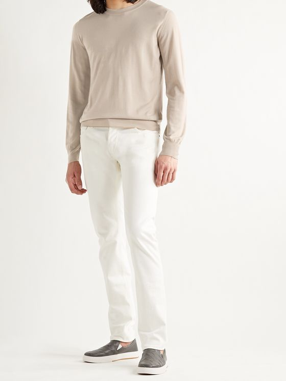BRIONI Logo-Embroidered Wool Sweater