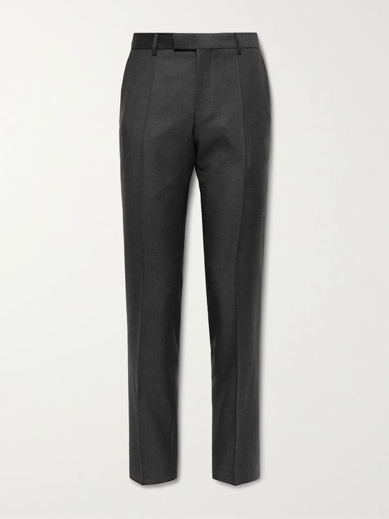 HUGO BOSS Lenon2 Slim-Fit Pleated Virgin Wool Suit Trousers