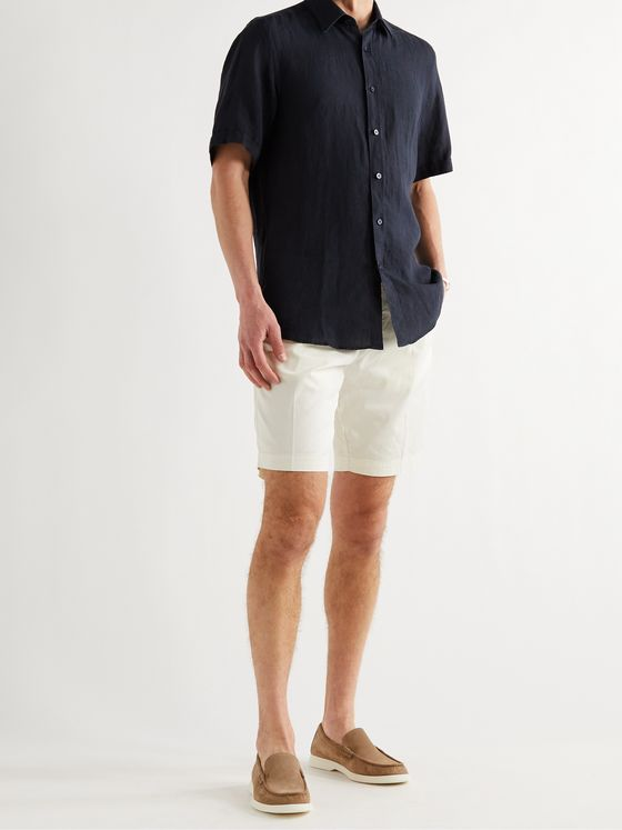 HUGO BOSS Stretch-Cotton Twill Shorts