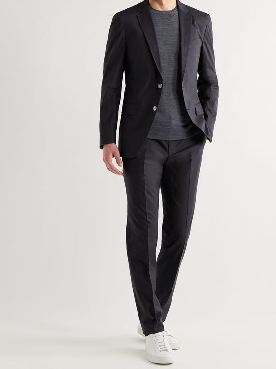 HUGO BOSS Slim-Fit Stretch-Cotton Suit Trousers