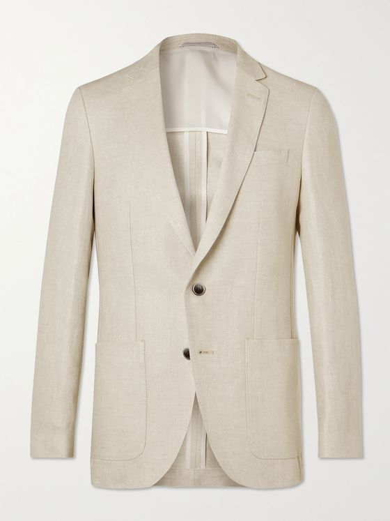 HUGO BOSS Slim-Fit Linen Blazer