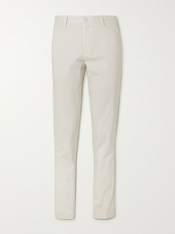 HUGO BOSS Slim-Fit Cotton Trousers