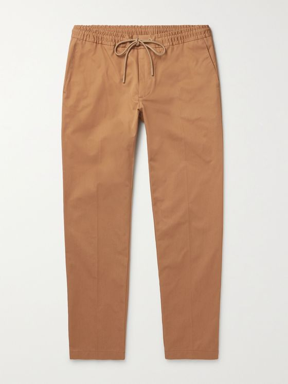 HUGO BOSS Tapered Cotton-Twill Drawstring Chinos