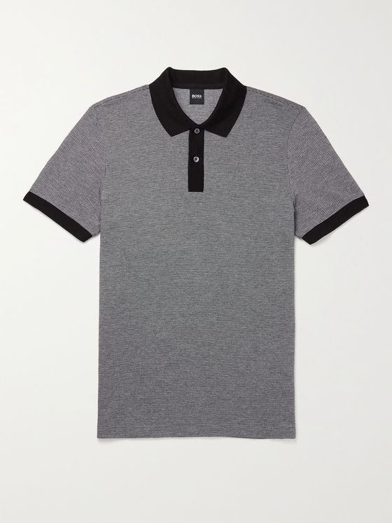 HUGO BOSS Parlay Contrast-Tipped Cotton Polo Shirt
