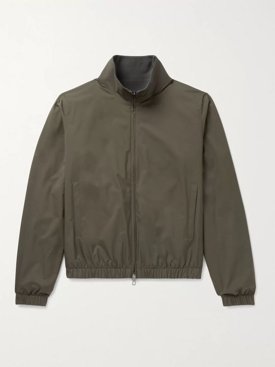 Loro Piana Reversible Windmate Storm System Shell and Cashmere Bomber Jacket