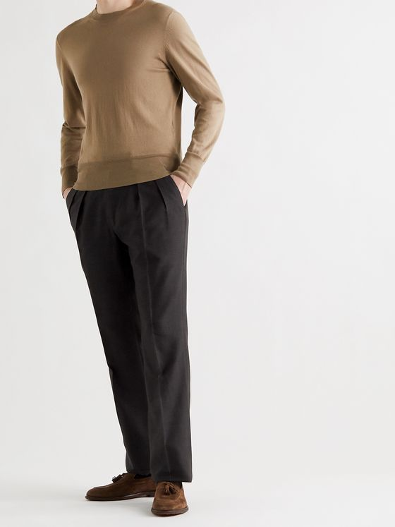 TOM FORD Atticus Silk-Canvas Trousers