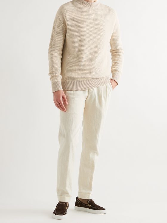 LORO PIANA Linen and Cashmere-Blend Sweater