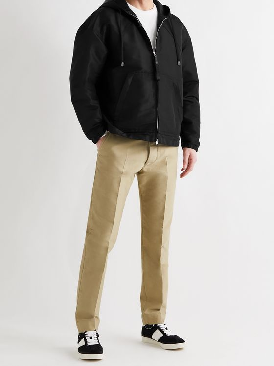 TOM FORD Tech-Faille Hooded Jacket