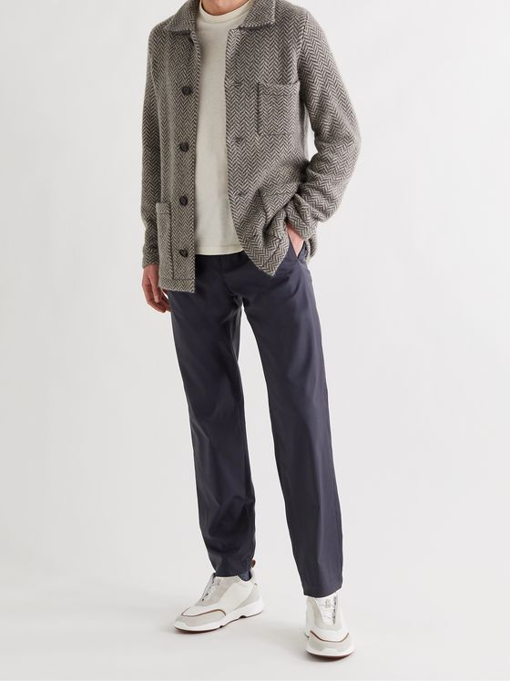 LORO PIANA Rain System Virgin Wool-Blend Trousers