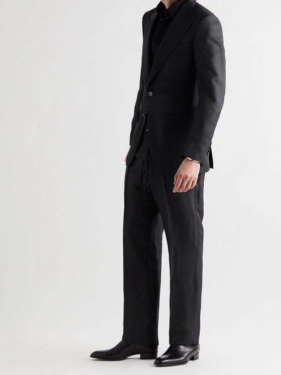 TOM FORD Atticus Twill Drawstring Suit Trousers