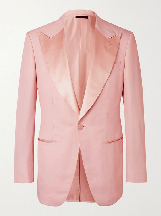 TOM FORD Atticus Satin-Trimmed Twill Tuxedo Jacket