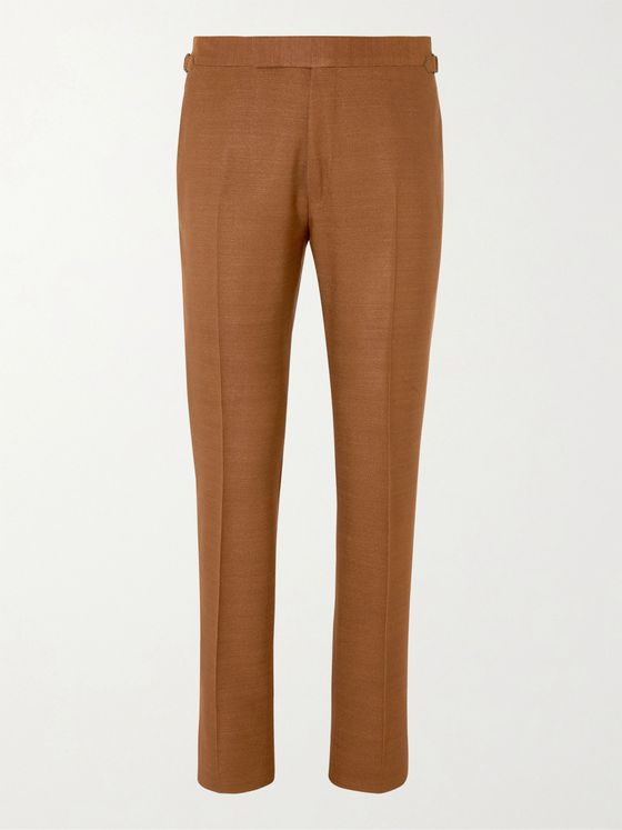 TOM FORD Shelton Silk-Canvas Suit Trousers