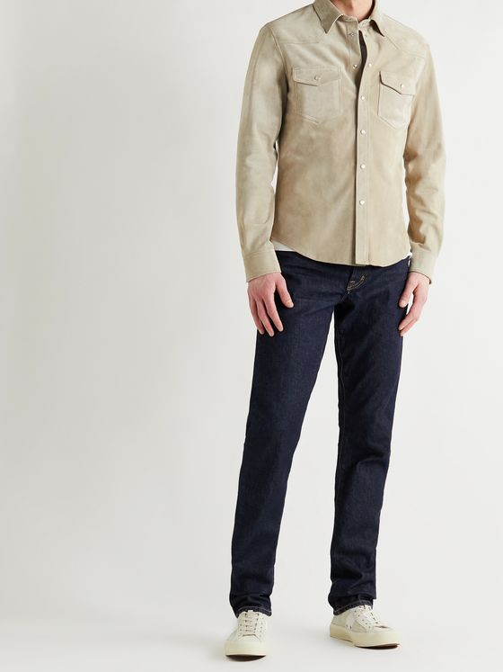 TOM FORD Western Suede Shirt