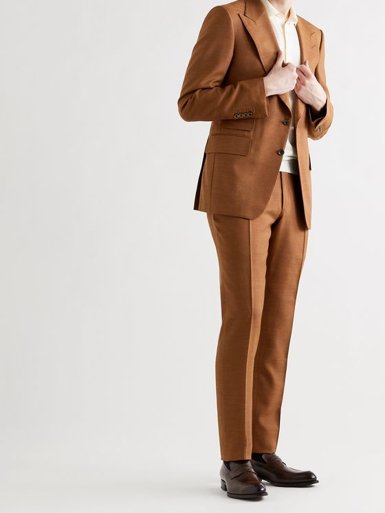 TOM FORD Shelton Silk-Canvas Suit Jacket