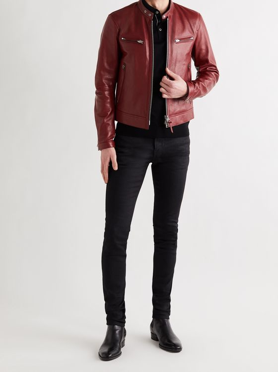 TOM FORD Slim-Fit Leather Jacket