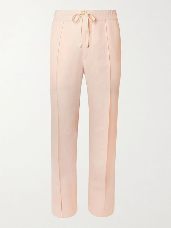 TOM FORD Pleated Twill Drawstring Suit Trousers