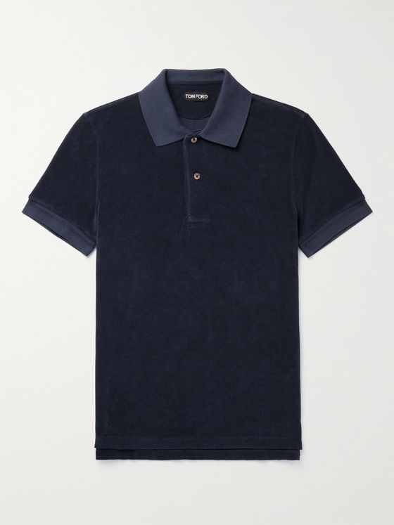 TOM FORD Cotton-Blend Terry Polo Shirt