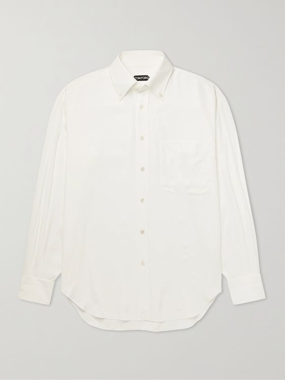 TOM FORD Oversized Button-Down Collar Woven Shirt