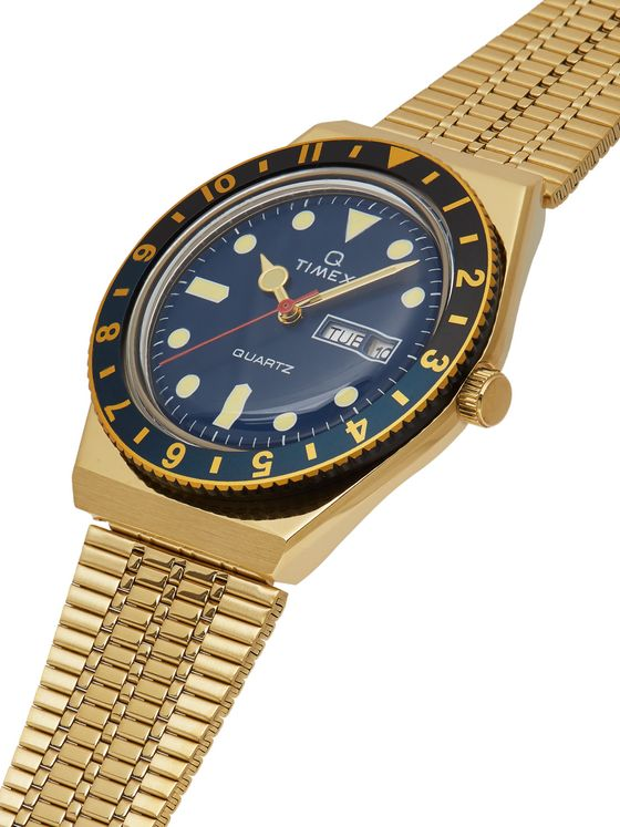TIMEX Q Timex Reissue 38mm Gold-Tone Stainless Steel Watch