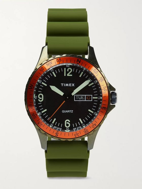 TIMEX Archive Navi Land Stainless Steel and Silicone Watch